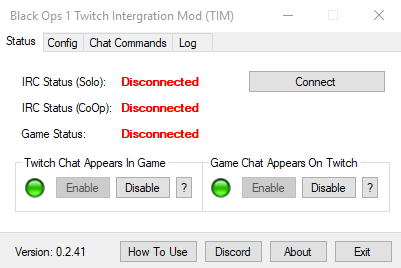 Guide/Help for Twitch Integration Mod (TIM) Black Ops 1 Zombies